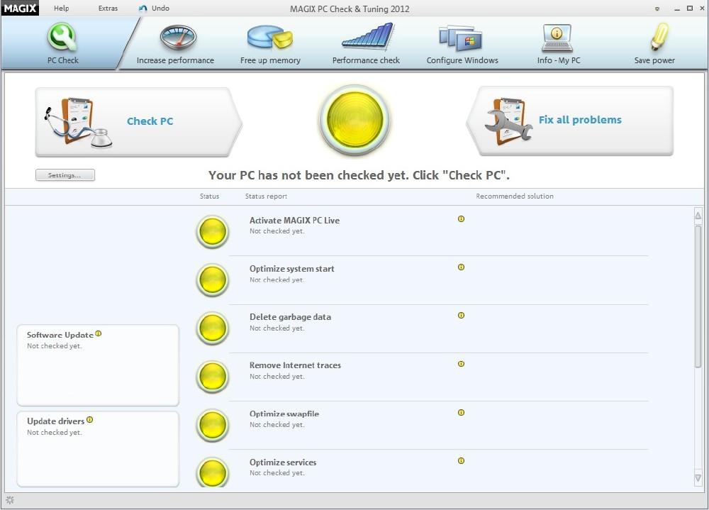 Magix pc check  tuning 2012 + crack memang salah satu software utilities yang cukup diminati oleh para pengguna